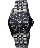 Olympianus 奧柏自動上鍊機械腕錶-IP黑 89325-05