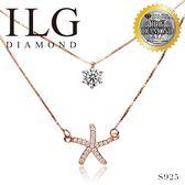 【頂級美國ILG鑽石】八心八箭項鍊-星心知道 主鑽約75分 NC242 玫瑰金雙鍊設計