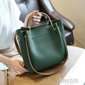 女包水桶包潮韓版簡約百搭斜背包手提包單肩包大包 韓語空間