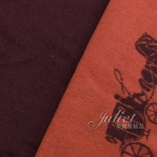 茱麗葉精品【全新現貨】COACH 12166 刺繡馬車LOGO羊毛雙色圍巾. 紅