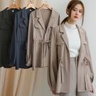 現貨-MIUSTAR 西裝領包布排釦腰綁帶襯衫外套(共3色)【NJ0263】