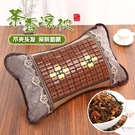 枕頭 夏天涼枕頭單人冰絲麻將竹枕頭夏季涼爽成人家用茶葉涼席枕頭透氣