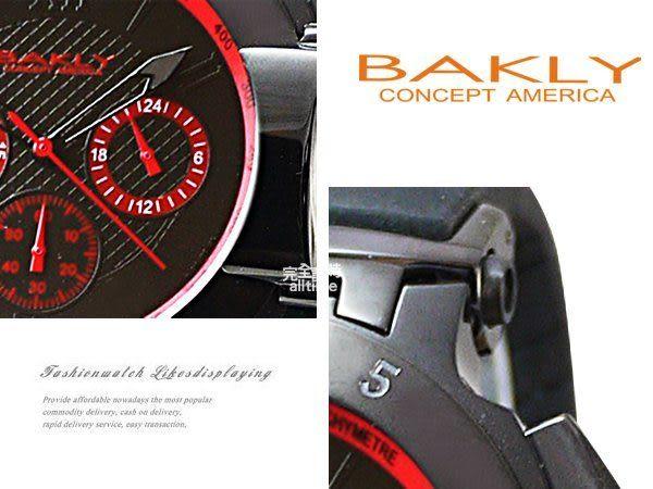 完全計時 專櫃品牌BAKLY 街頭系列 重裝武器 腕錶 禮物 BAS9017-2 三眼造型 鋼鐵人