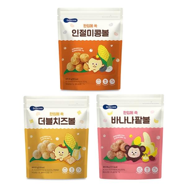 韓國 智慧媽媽 BEBECOOK 嬰幼兒玉米球(原味/雙倍起司/香蕉紅豆)