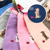 台灣 貝柔 韓系 愛吃狗萊卡船型襪  6色 隨機出貨 不挑款 毛小孩 繽紛 襪子