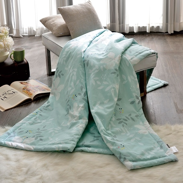 義大利La Belle《葉語柔情》純棉涼被(5x6.5尺)