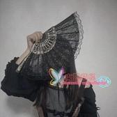 扇子 .擺拍道具黑暗蘿莉病嬌哥特風洛麗塔復古風日式和風蕾絲旗袍扇子