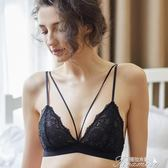 性感bralette蕾絲無鋼圈無海綿文胸超薄透明綁帶黑色內衣 提拉米蘇