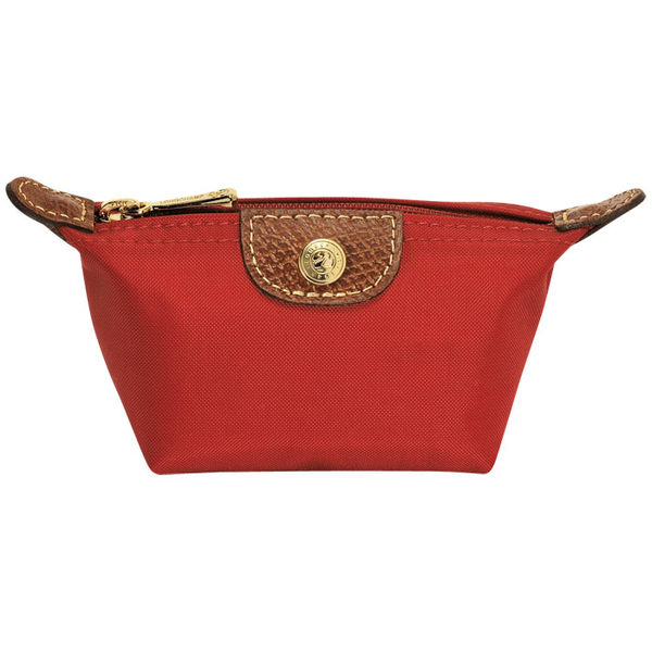 Longchamp 拉鍊式水餃零錢包~(粉紅色) ~ 現貨特價