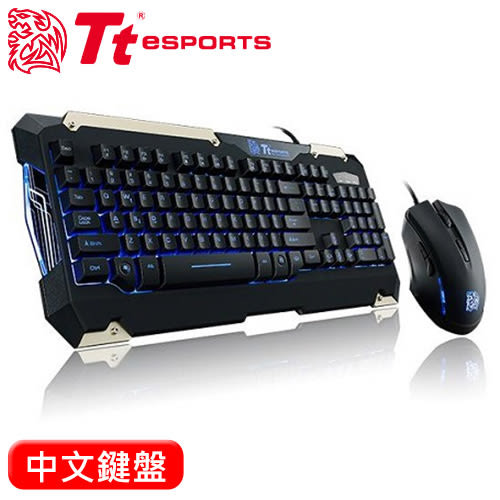 Thermaltake 曜越 軍令官 類機械鍵盤滑鼠組 中文【原價$1290 ↘現省$300元】