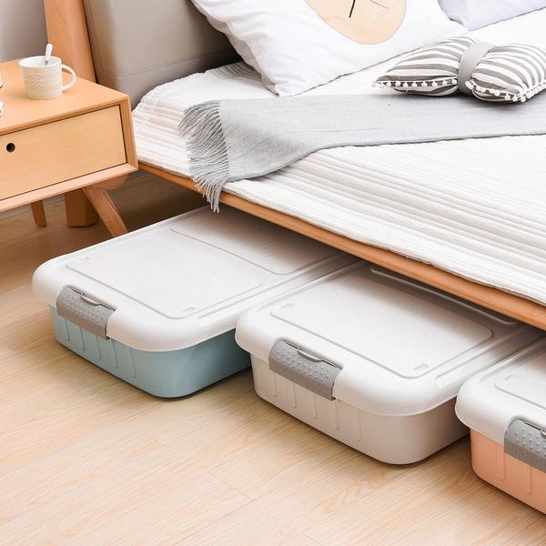 【+O 家窩】萊納床下掀蓋滑輪整理箱58L-3入組-DIY (收納箱 換季 衣物 隙縫)