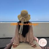 草帽女夏季蕾絲系帶沙灘帽度假涼帽防曬遮陽帽【大碼百分百】