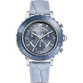 SWAROVSKI施華洛世奇 Octea Lux Chrono手錶 5580600-冰川藍