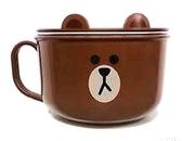 LINE 熊大 304不鏽鋼湯杯 (附蓋子) 750ml  湯杯 大碗  300381 奶爸商城