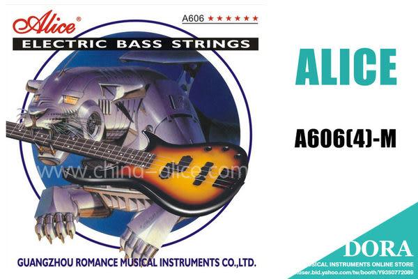 【小叮噹的店】全新Alice.A606-4M 四弦電貝士弦(M) /套
