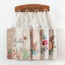 可愛學生環保袋收納袋韓國女包夏手提購物袋 ☸mousika