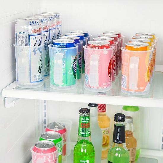 飲料架 收納架 整理架 塑料盒 收納盒 手提盒 手拉式 置物架 四格瓶罐整理架【X016】米菈生活館