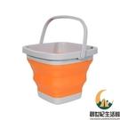 折疊水桶戶外便攜式旅行釣魚桶打水桶多功能大號家用伸縮桶【創世紀生活館】