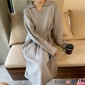 孕婦裝洋裝 2021連身裙早秋新款孕婦裝網紅洋氣減齡秋冬時尚款遮肚不顯懷高端 coco