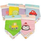 【女生款1組3條】軟棉+毛巾料雙層按扣三角口水巾