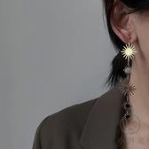 流蘇耳環女簡約時尚耳線氣質百搭太陽花耳墜【小酒窝服饰】