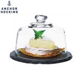 美國安佳 anchor石板蛋糕盤(小) 玻璃蓋 點心盤 ins風 石板盤 起司盤