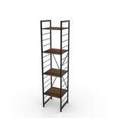 (組)特力屋萊特四層架黑框/深木紋-40x40x188cm