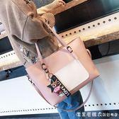女包大容量手提包時尚冬季單肩包女大學生韓版百搭托特包 漾美眉韓衣