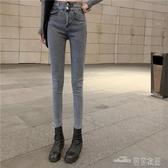 當當衣閣-泫雅老爹褲高腰牛仔褲女 顯高修身直筒心機褲女小腳復古鉛筆褲