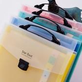 【快出】13格辦公檔夾多層手提多功能風琴包學生用試捲袋韓版小清新分層檔包