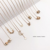 YAHOO618◮新春新品▶鈦鋼鑲鉆項鏈女 鎖骨鏈個性頸鏈 韓趣優品☌