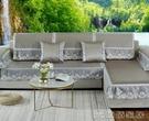 沙發保護套 夏天款冰絲坐墊子簡約布藝防滑沙發套罩 俏俏家居
