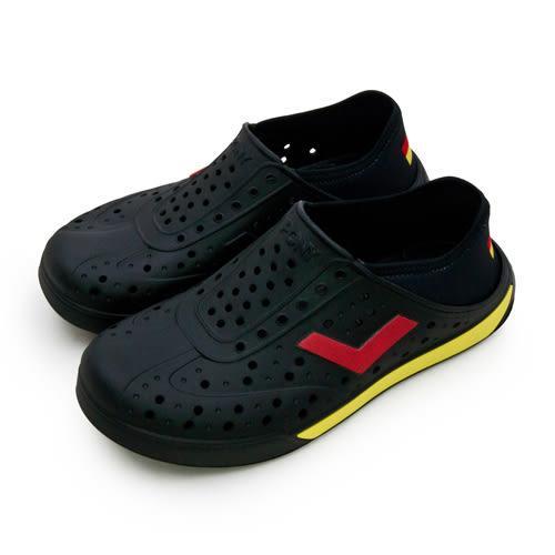 LIKA夢 PONY 防水輕量透氣 ENJOY 世足賽洞洞休閒鞋 德國 黑紅黃 82U1SA76BK 男