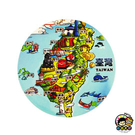 【收藏天地】台灣紀念品*神奇的陶瓷吸水杯墊-寶島地標∕馬克杯 送禮 文創 風景 觀光  禮品