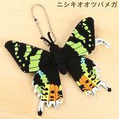 Hamee 日本 森林昆蟲 絨毛娃娃 掌上型玩偶 珠鍊吊飾 掛飾 蝴蝶 (日落蛾) 390-910522
