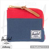 Herschel 皮夾 短夾 Johnny-018  經典拉鍊零錢包 紅/深藍 Johnny-018 得意時袋