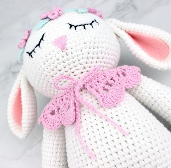 鉤針兔子玩偶編織毛線玩偶diy手工材料包萌兔兔針織寶寶玩具