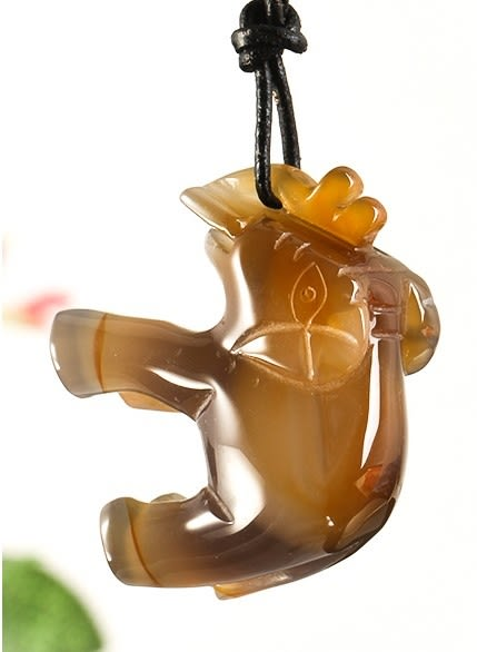 [協貿國際]天然原色瑪瑙大象雕刻擺飾單個價
