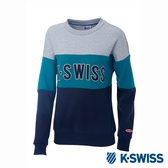 K-SWISS Round Sweat Shirts圓領長袖上衣-女-灰