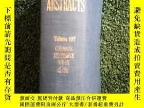 二手書博民逛書店107CS1罕見化學摘要(CHEMICAL ABSTRACTS)