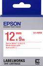 LK-4WRN EPSON 標籤帶 (白底紅字/12mm) C53S654402
