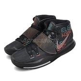 Nike 籃球鞋 Kyrie 6 EP Eleven 黑 男鞋 彩色文字圖騰 KI6 運動鞋【ACS】 BQ4631-006
