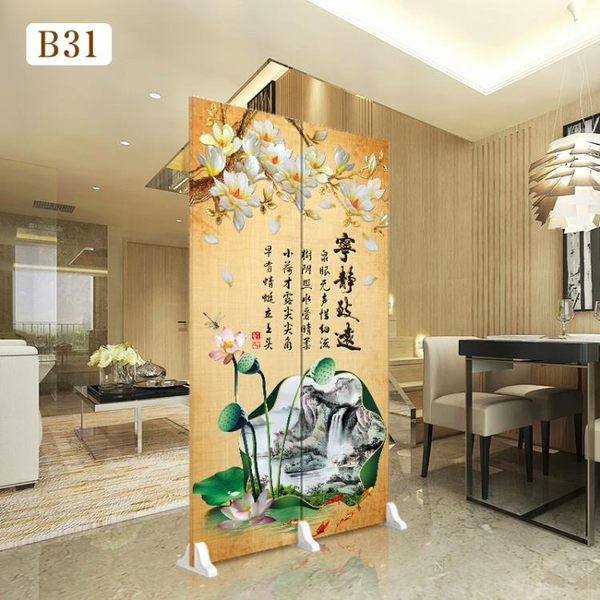 屏風 中式屏風隔斷客廳可移動折屏裝飾簡約時尚臥室經濟型雙面折疊布藝