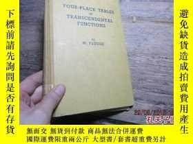 二手書博民逛書店four-place罕見tables of transcende