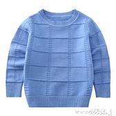 毛衣 童裝男童毛衣秋裝兒童針織衫套頭上衣中大童線衣韓版潮【小天使】