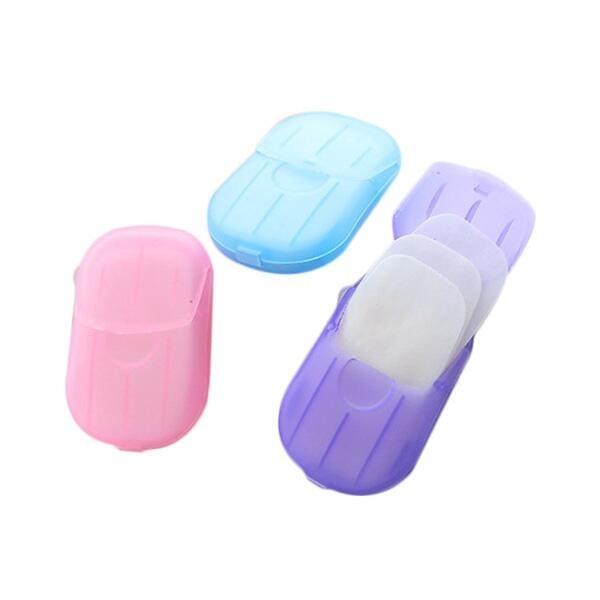 旅行便攜式肥皂香皂紙(20張)『STYLISH MONITOR』顏色隨機出貨 D021461