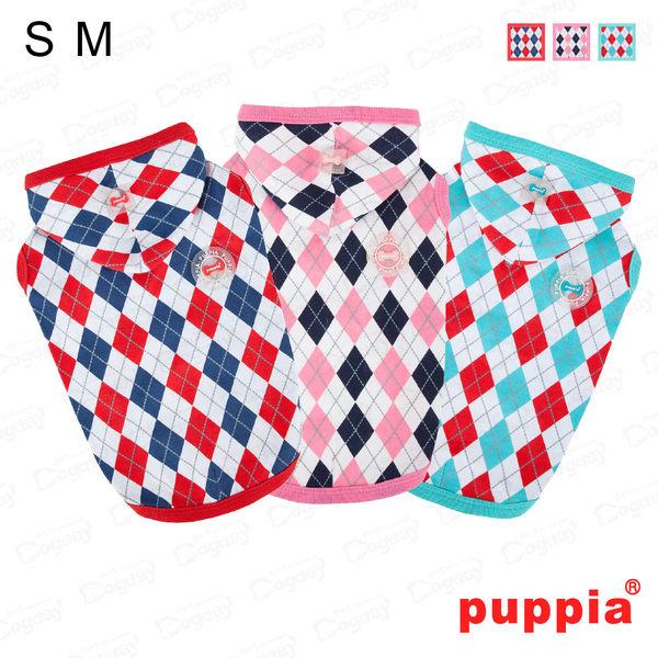 狗日子《Puppia》歡顏菱格帽T S/M號 紅/粉紅/青綠