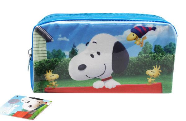 【卡漫城】 Snoopy 方形 筆袋 大臉版 ㊣版 史努比 Peanut 史奴比 萬用包 化妝包 鉛筆盒 萬用袋 收納包