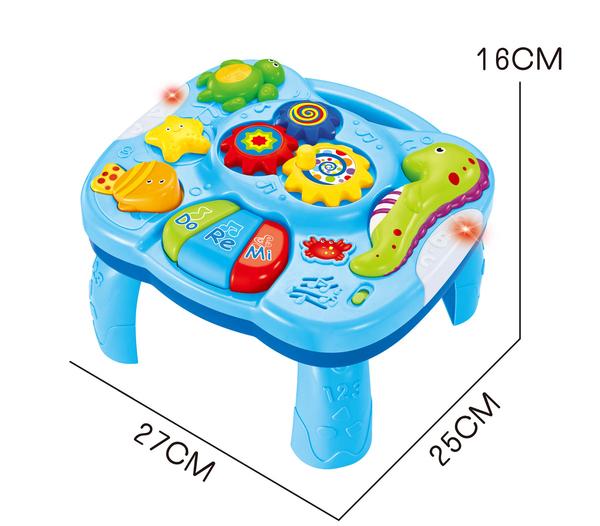 *幼之圓* 益智早教玩具~海洋世界音樂學習桌~嬰兒多功能音樂遊戲桌~兒童趣味學習玩具台~