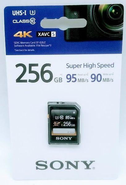 SONY SF-G2UZ/T2 SDXC-256GB UHS-I U3 95MB/s 記憶卡 【台灣索尼公司貨 五年保固】SONY SF-G2UZ